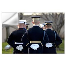 The Armed Forces Honor Guard Wall Decal
