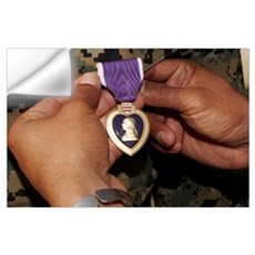The Purple Heart Award Wall Decal