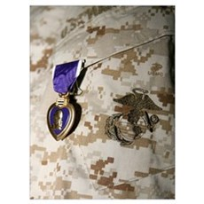 The Purple Heart Award Framed Print