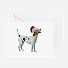 Santa Foxhound Greeting Card