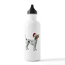 Santa Foxhound Water Bottle