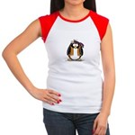 Hippie penguin Women's Cap Sleeve T-Shirt