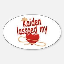 Kaiden Lassoed My Heart Decal
