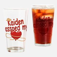 Kaiden Lassoed My Heart Drinking Glass