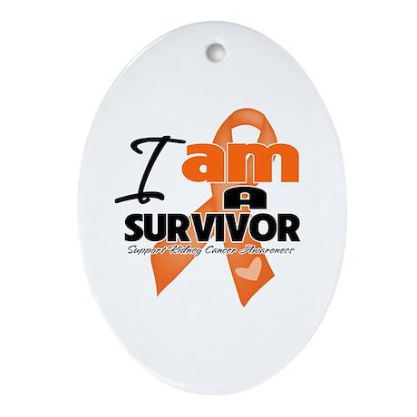 Survivor Kidney Cancer Ornament (Oval)