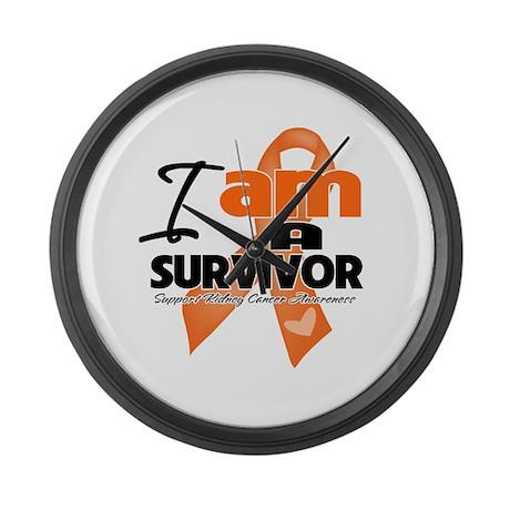 Survivor Kidney Cancer Large Wall Clock