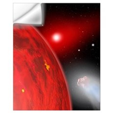 A red dwarf star shines feebly on a new member of Wall Decal