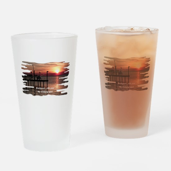 Rockport Texas Drinking Glass
