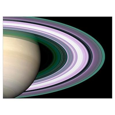 Saturns Rings Poster
