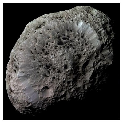 Falsecolor view of Saturns moon Hyperion Poster