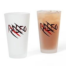 Paleo Red Drinking Glass