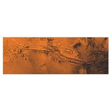 Valles Marineris the great canyon of Mars Poster