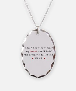 My heart holds Love Necklace Oval Charm