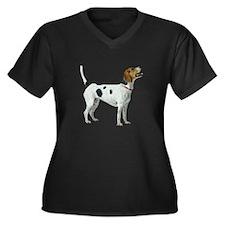 Foxhound Women's Plus Size V-Neck Dark T-Shirt