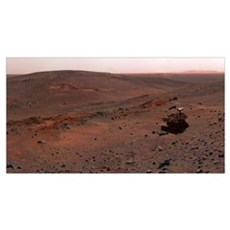 Mars Exploration Rover Spirit on the flank of Husb Framed Print