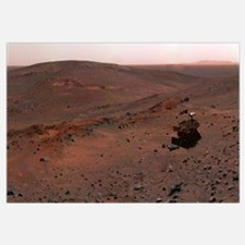 Mars Exploration Rover Spirit on the flank of Husb