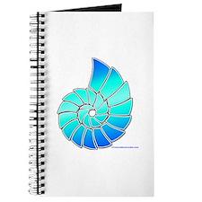 Aqua Nautilus Shell Journal