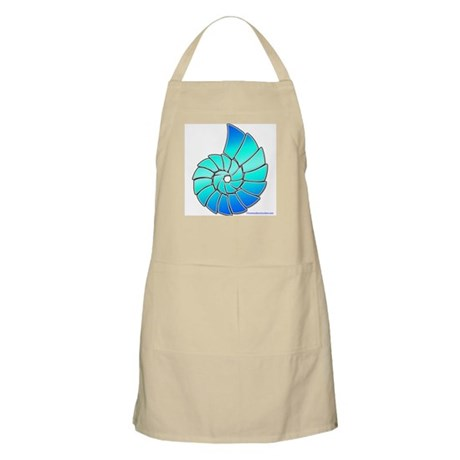 Aqua Nautilus Shell BBQ Apron