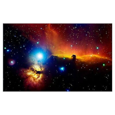 Alnitak region in Orion Flame nebula NGC 2024 hors Poster
