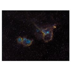 The Heart and Soul Nebulae Poster