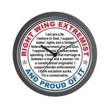Right Wing Extremist Wall Clock