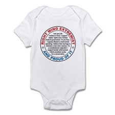 Right Wing Extremist Infant Bodysuit