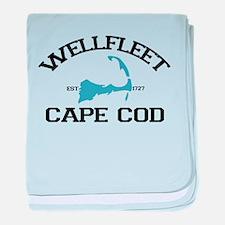 "Wellfleet MA ""Varsity"" Design. baby blanket"