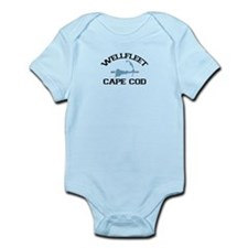 "Wellfleet MA ""Varsity"" Design. Infant Bodysuit"