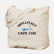 "Wellfleet MA ""Varsity"" Design. Tote Bag"