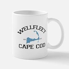 """Wellfleet MA """"Varsity"""" Design. Mug"""