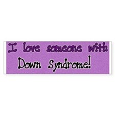 I Love Someone W/ DS Purple Bumper Bumper Sticker