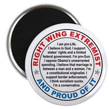 "Right Wing Extremist 2.25"" Magnet (100 pack)"
