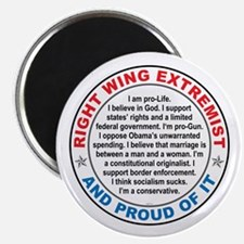 """Right Wing Extremist 2.25"""" Magnet (10 pack)"""