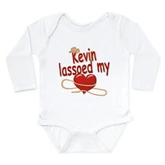 Kevin Lassoed My Heart Long Sleeve Infant Bodysuit