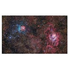 A star forming region in the constellation of Sagi Framed Print