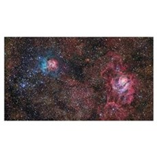 A star forming region in the constellation of Sagi Poster
