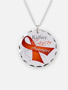Kidney Cancer Awareness Necklace