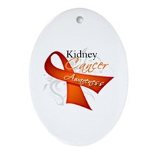 Kidney Cancer Awareness Ornament (Oval)