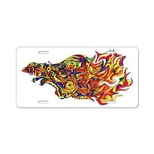 Phoenix Flames Illustration Aluminum License Plate