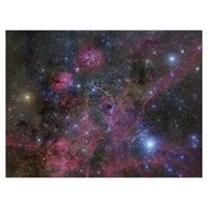 The Vela supernova remnant Framed Print