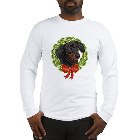 Dachshund Howl-Days Long Sleeve T-Shirt