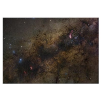 The Galactic Center of the Milky Way Galaxy Canvas Art