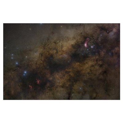 The Galactic Center of the Milky Way Galaxy Poster