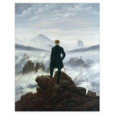 The Wanderer above the Sea of Fog, 1818 (oil on ca Poster