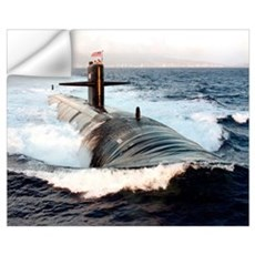 Starboard bow view of Attack Submarine USS Los Ang Wall Decal