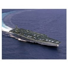 Artist's concept of CVN21 one of a new class of ai Poster