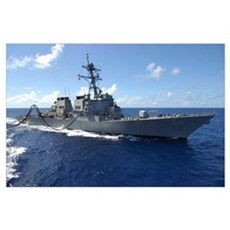 Guided missile destroyer USS Curtis Wilbur Poster