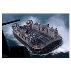 Landing Craft Air Cushion hovercraft Poster