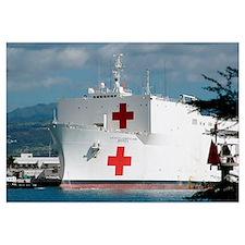 The Military Sealift Command hospital ship USNS Me
