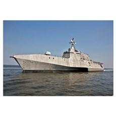 The littoral combat ship Independence during build Framed Print